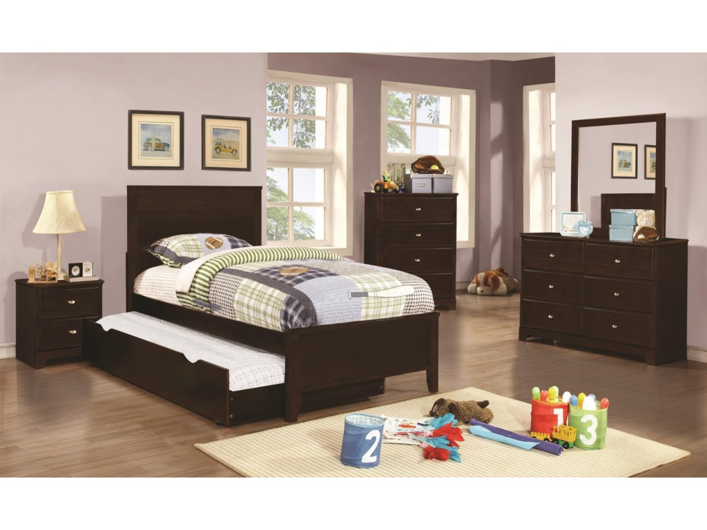 Coaster Ashton CollectionFull Bed with Trundle