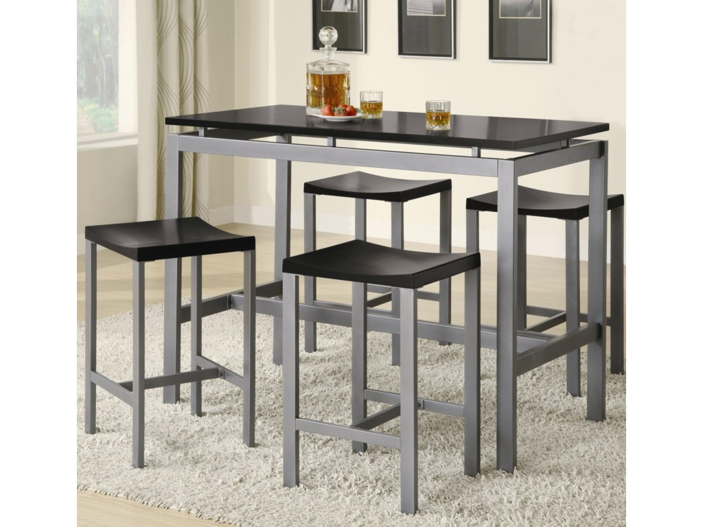Coaster Atlus5 Piece Counter Height Dining Set