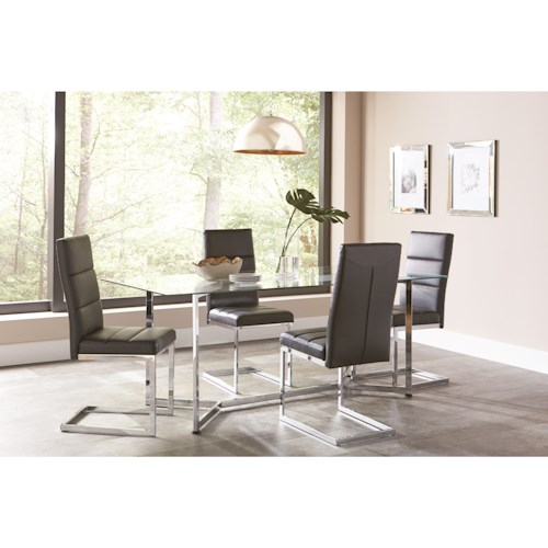 Coaster Augustin Contemporary Table and Chair Set