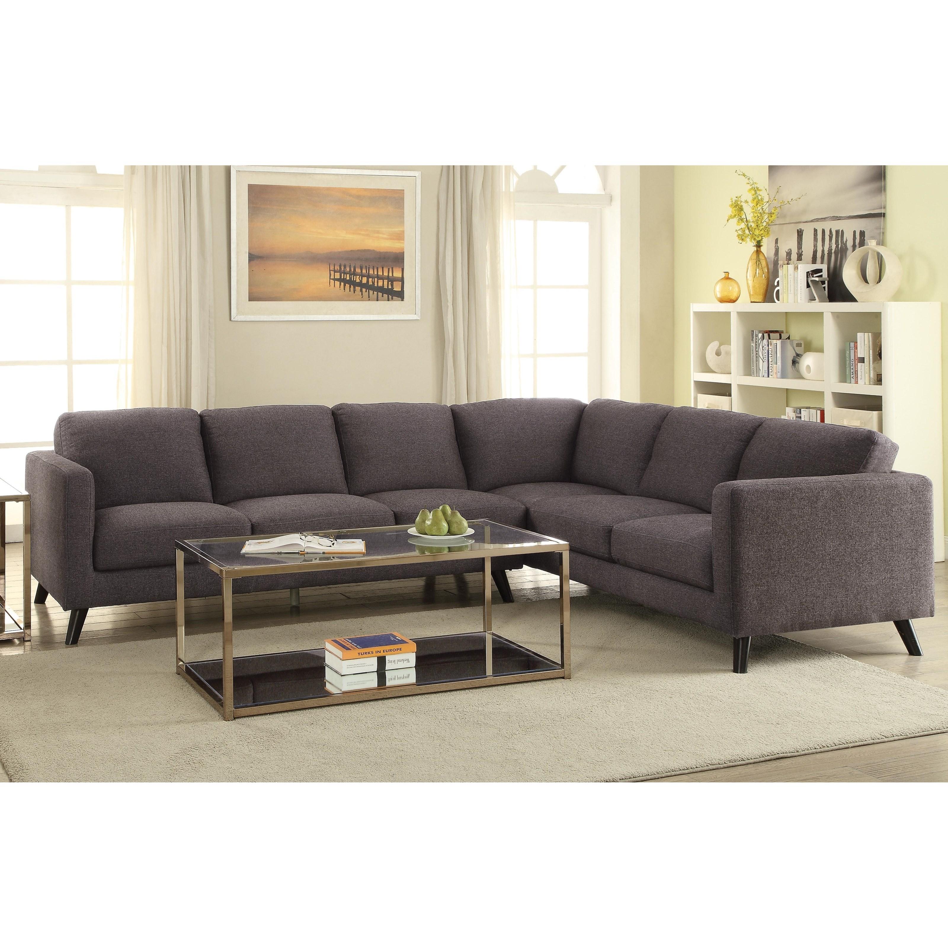 Lovely Coaster Azalea Mid Century Modern Sectional   Pedigo Furniture   Sectional  Sofas