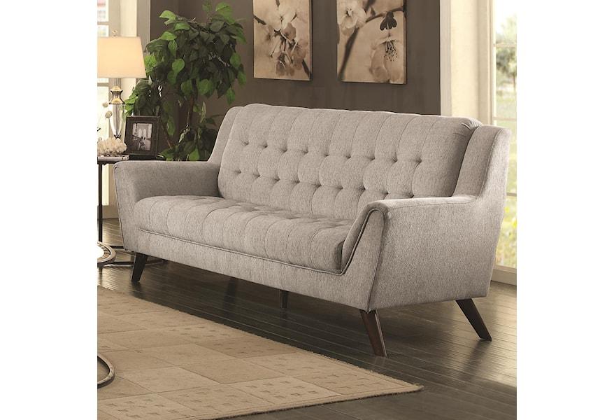 Baby Natalia Mid-Century Modern Sofa by Coaster at Dunk & Bright Furniture