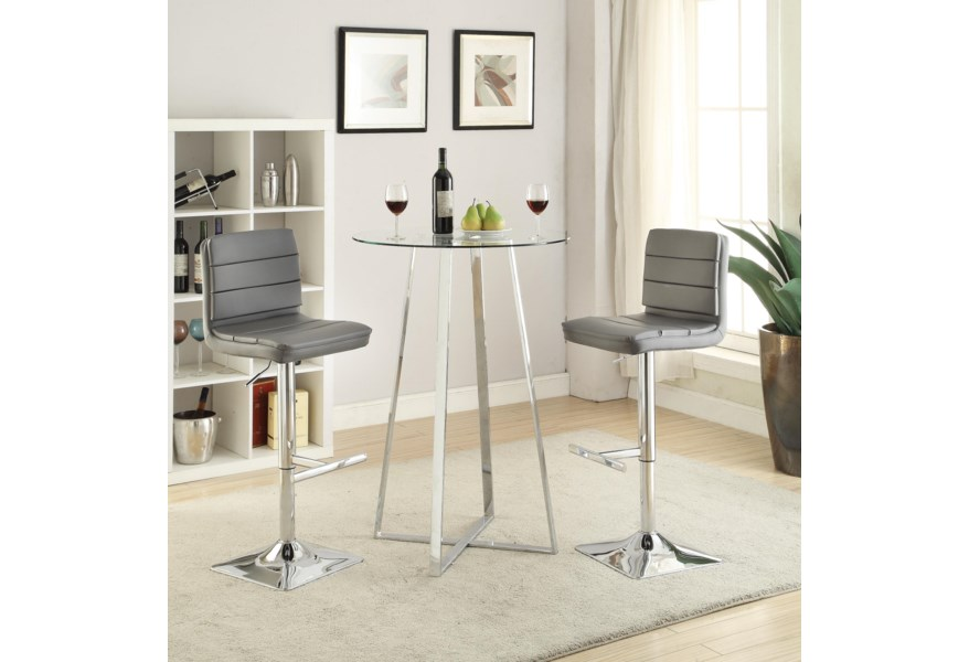 Bar Units And Tables Gl Height Dining Set By Coaster At Dunk Bright Furniture