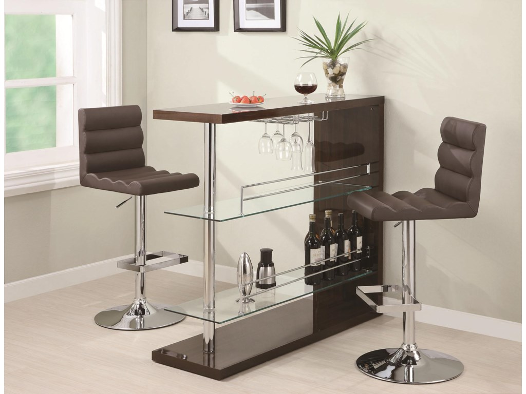 Coaster Bar Units And Tablescontemporary Set With Stools