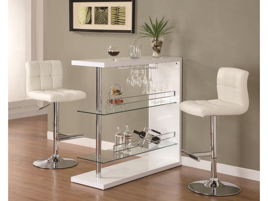 Coaster Bar Units and Bar TablesContemporary Bar Set with Stools