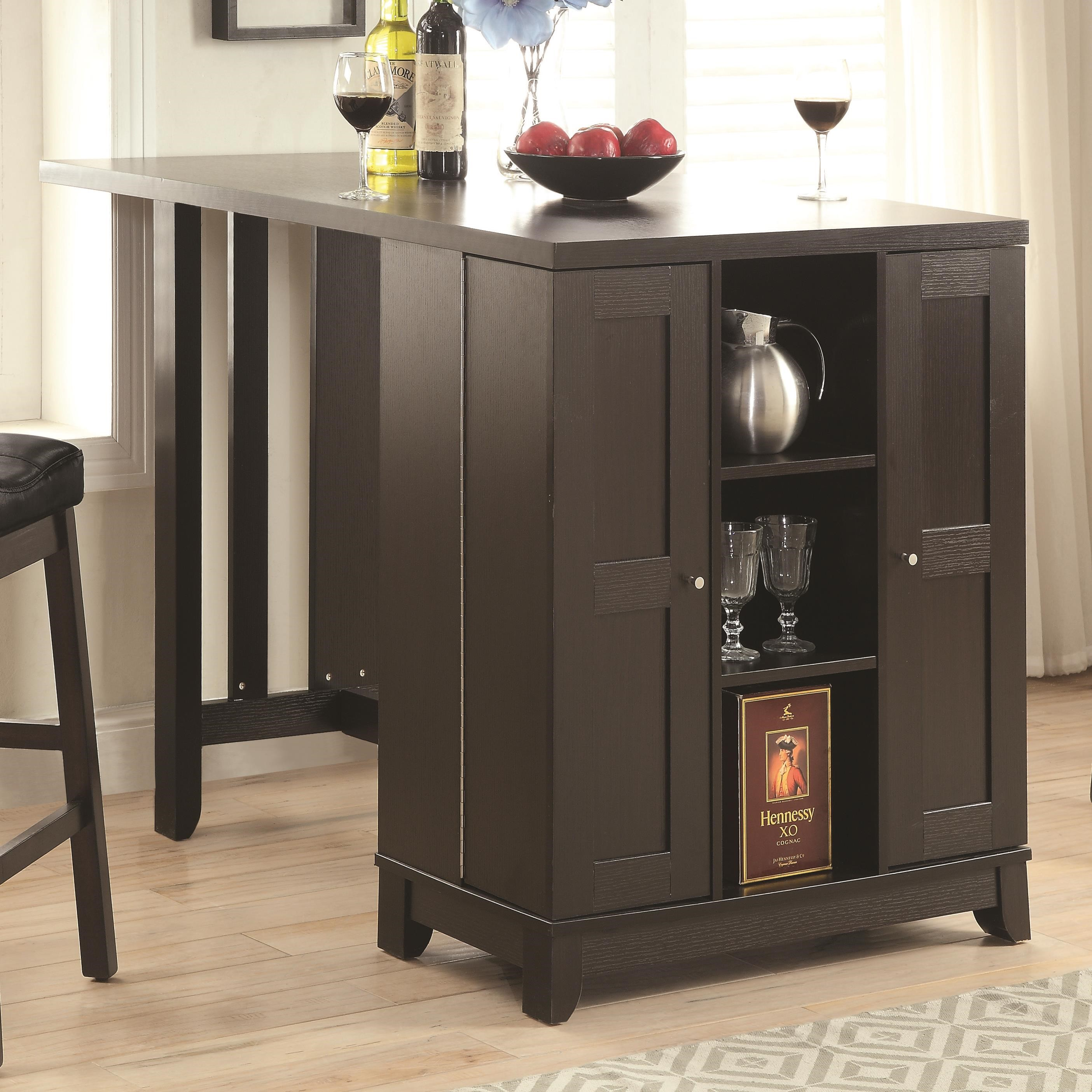 Captivating Coaster Bar Units And Bar Tables Counter Height Table With Bar Cabinet    Adcock Furniture   Kitchen Tables