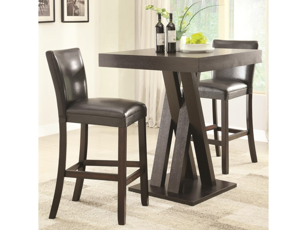 Coaster Bar Units And Tables3 Pc Height Table Stools Set
