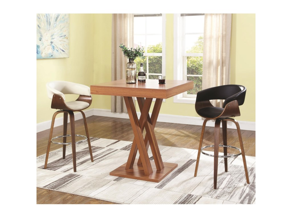 Coaster Bar Units And Tabar Height Table Stool Set
