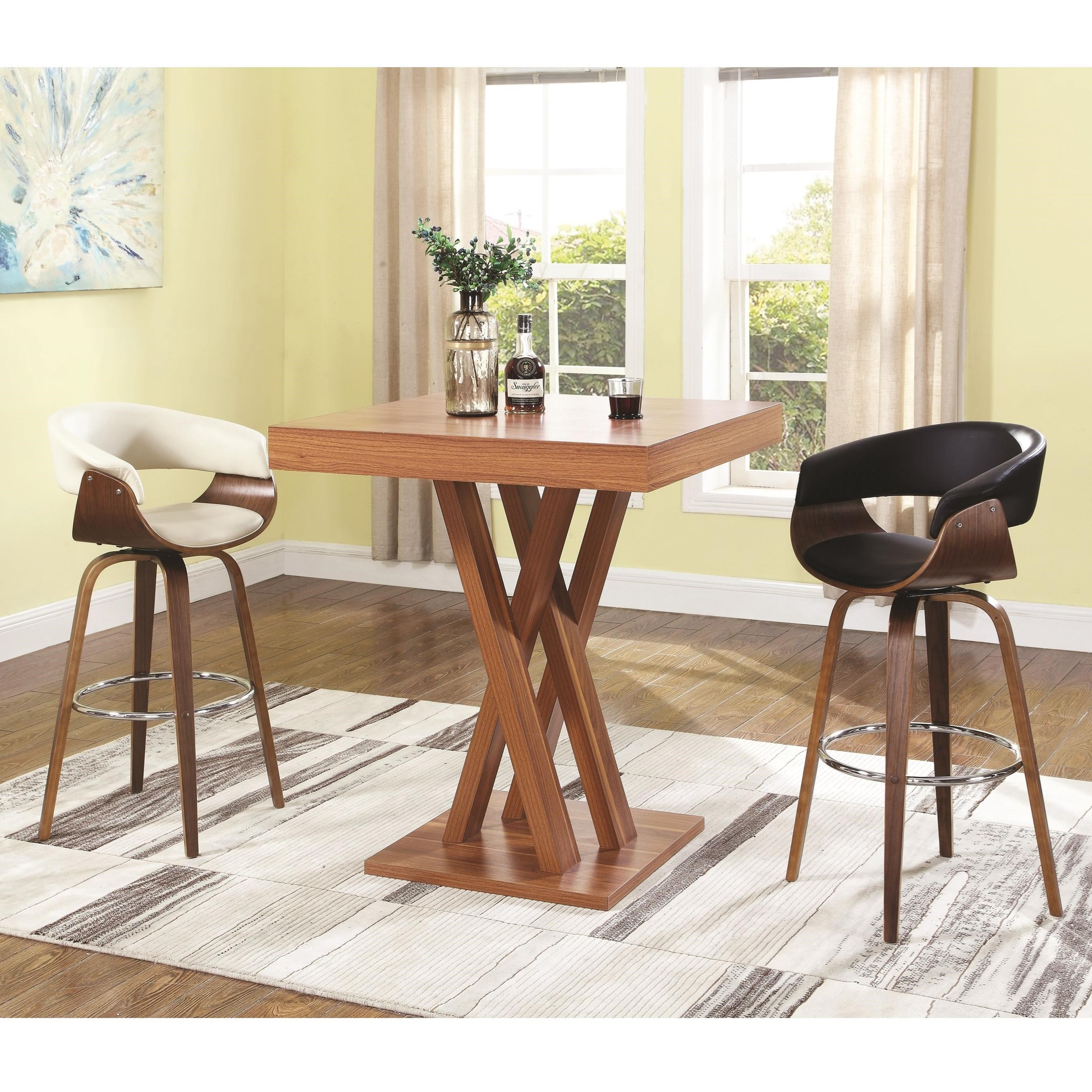 Coaster Bar Units And Bar TablesBar Height Table And Stool Set ...