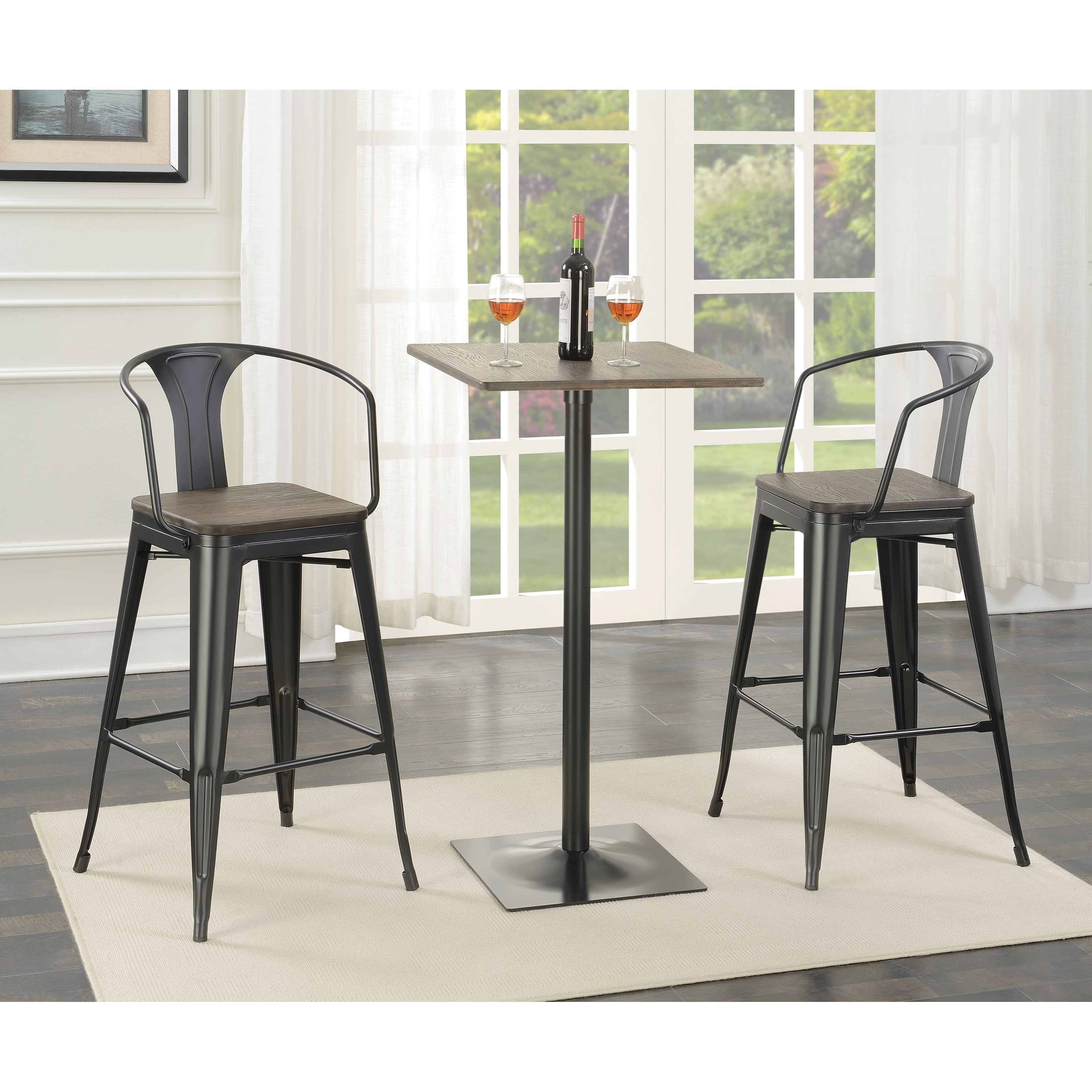 Industrial Bar Table and Stool Set