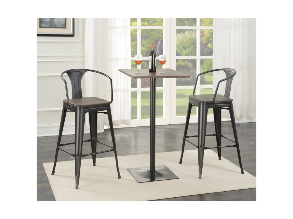 Coaster Bar Units and Bar TablesBar Table and Stool Set