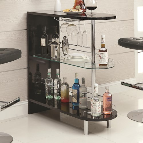 Coaster Bar Units and Bar Tables Contemporary Black Bar Table