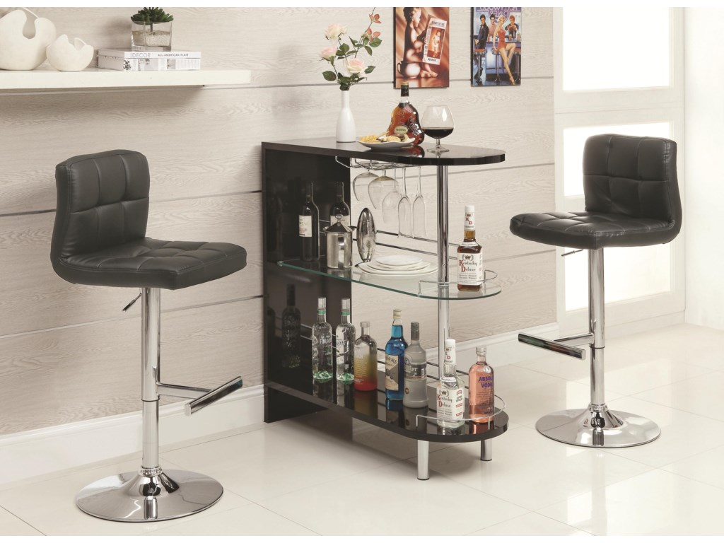 Coaster Bar Units and Bar TablesBlack Bar Table