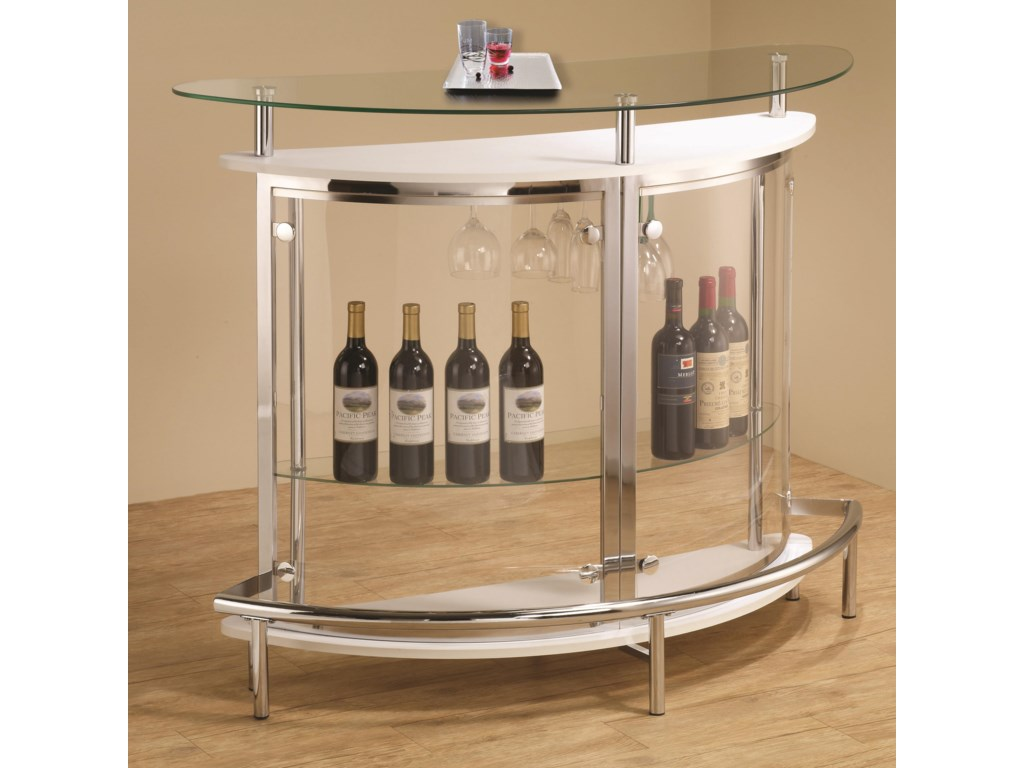 Coaster Bar Units And Tables Contemporary Unit With Clear Acrylic Front Dunk Bright Furniture Bars