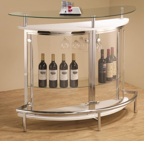 Coaster Bar Units and Bar Tables Contemporary Bar Unit with Clear Acrylic Front