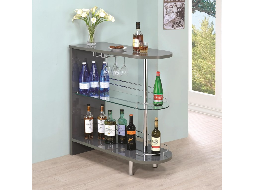 Coaster Bar Units and Bar TablesGrey Bar Table