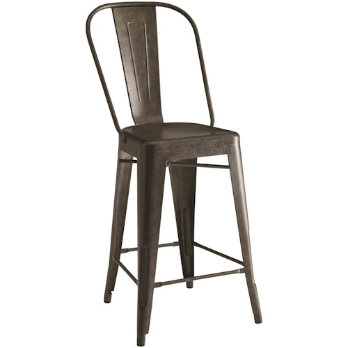 Coaster Bar Units and Bar Tables Lahner Metal Counter Height Chair in Antique Brown