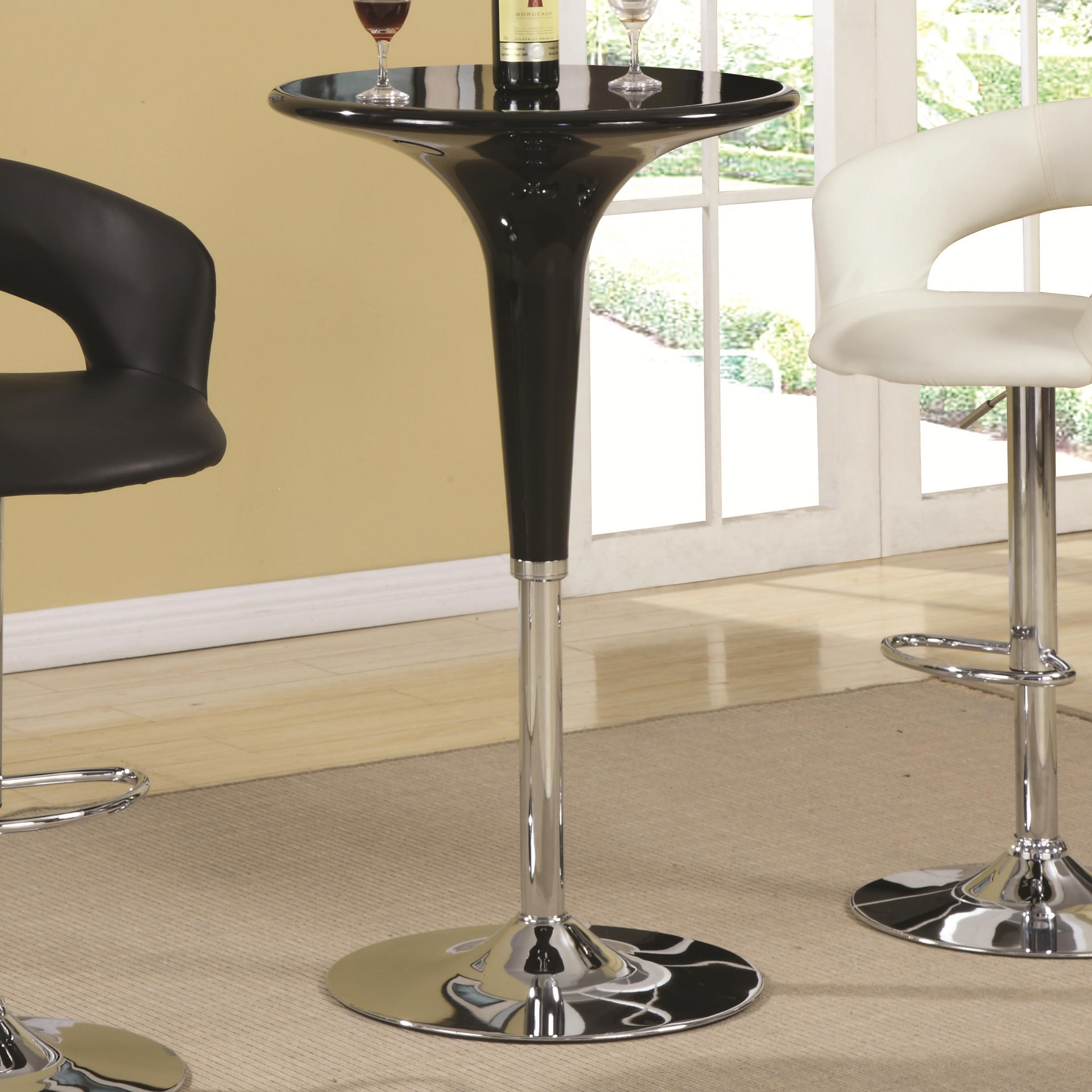 Coaster Bar Units And Bar Tables Modern Adjustable Bar Table   Dunk U0026  Bright Furniture   Pub Tables