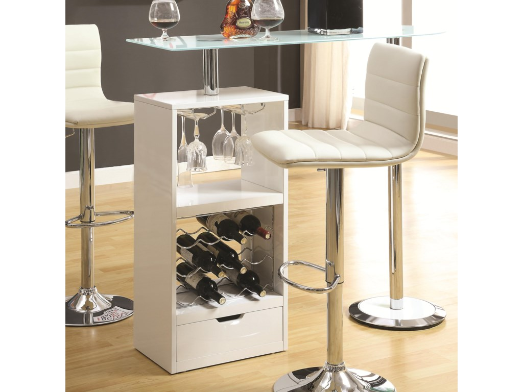 Coaster Bar Units and Bar TablesWhite Bar Table