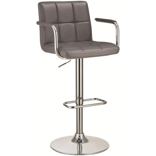 Coaster Bar Units and Bar Tables Bar Stool with Adjustable Seat and Foot Rest