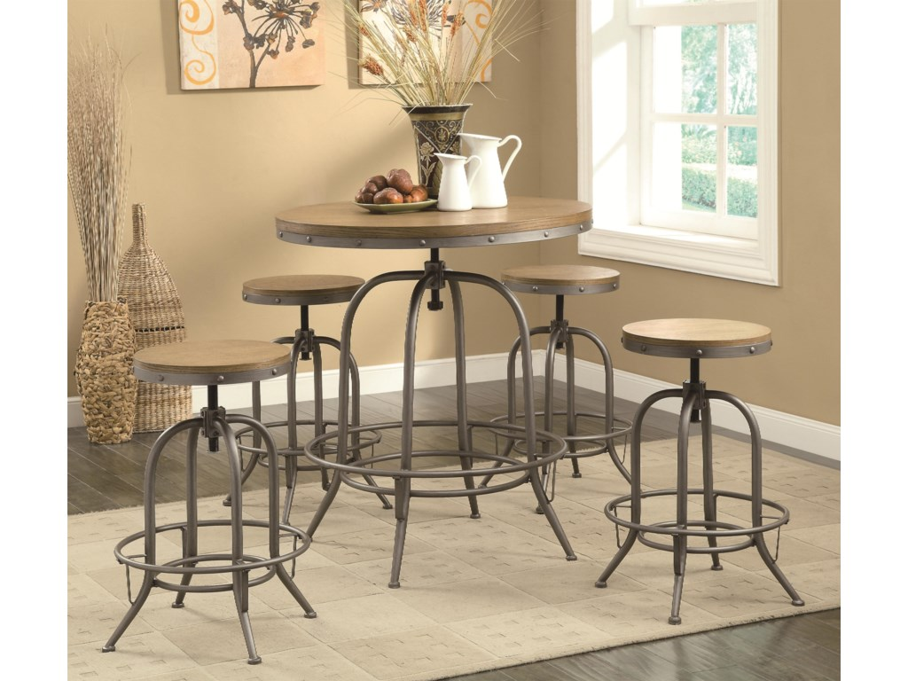 Coaster Bar Units and Bar TablesTransitional Bar Table and Chair Set