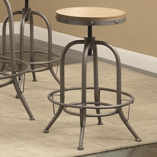 Coaster Bar Units and Bar Tables Transitional Adjustable Bar Stool