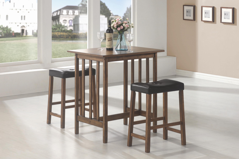 Coaster Bar Units And Bar Tables 3 Piece Bar Table And Stool Set