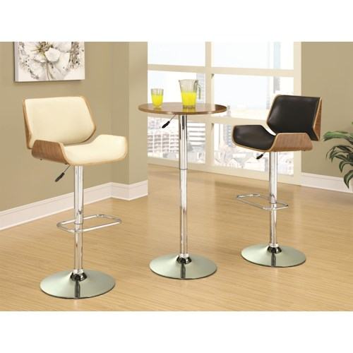 Adjustable Bar Table Set With Stools Bar Units And Bar Tables By Coaster Wilcox Furniture