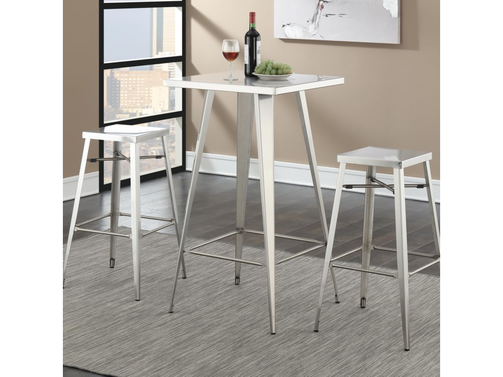 Coaster Bar Units and Bar TablesTable and Stool Set