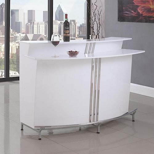 Coaster Bar Units and Bar Tables Contemporary Bar with Stemware Racks