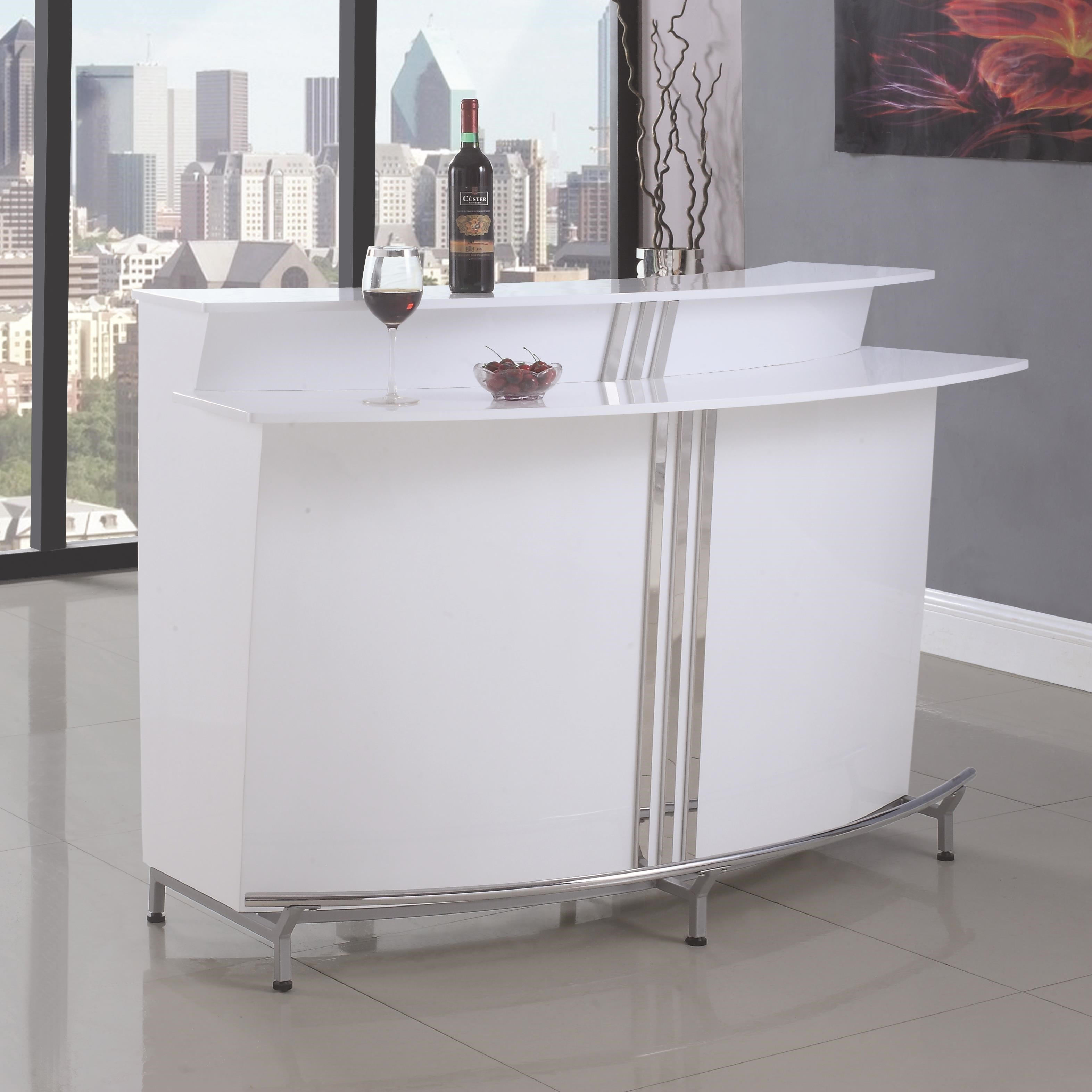 Bar Units And Bar Tables Contemporary Bar With Stemware Racks By Coaster