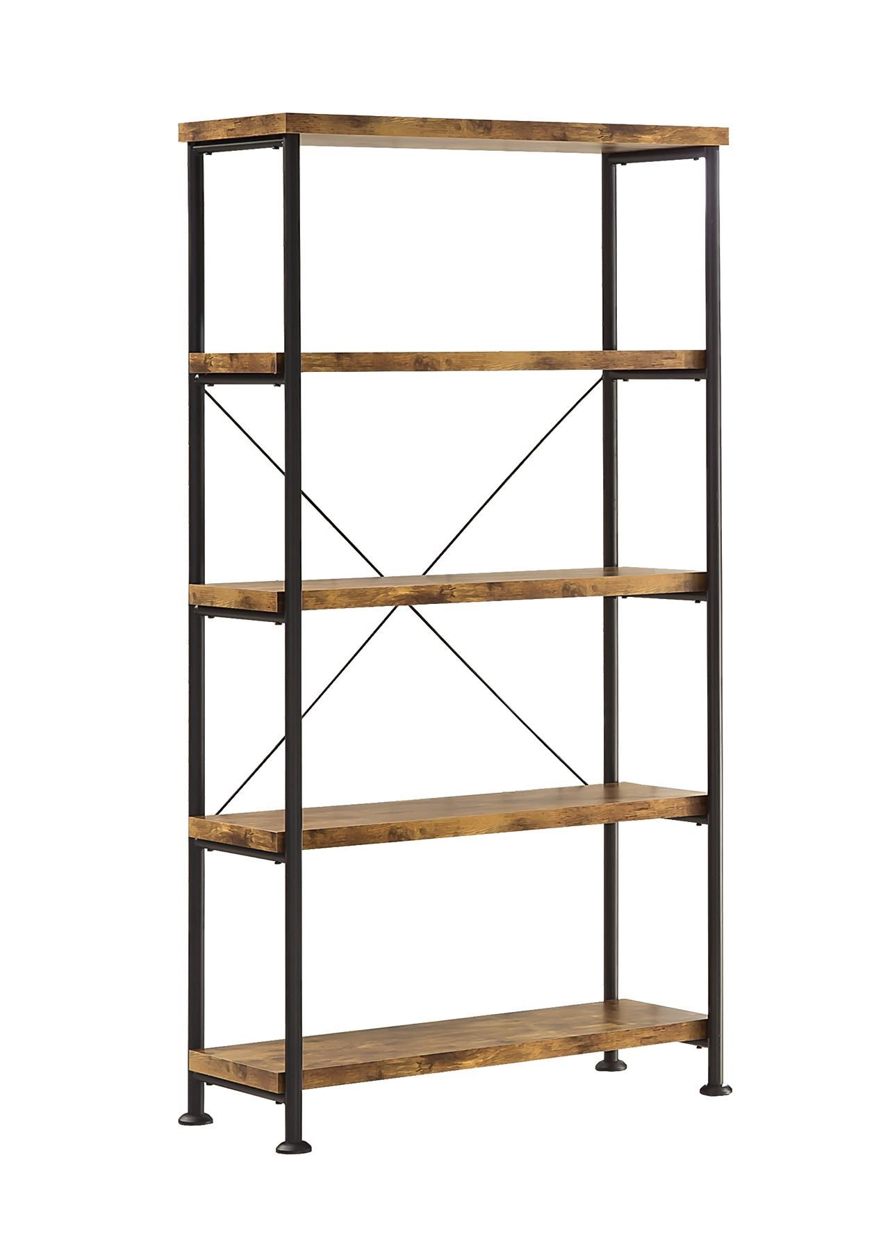 Coaster Barritt Small Wood And Metal Open Bookcase | Value City Furniture |  Open Bookcases