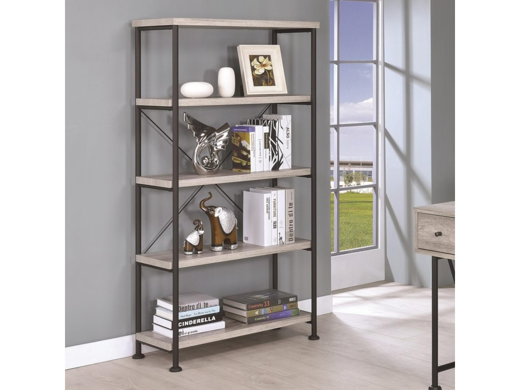 new office store rowan desk window comfyco coaster bookcase open com in lg at furniture