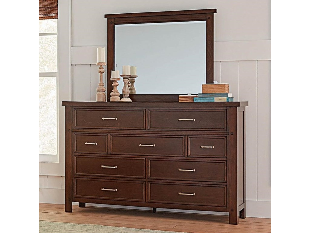 Coaster BarstowDresser and Mirror Set