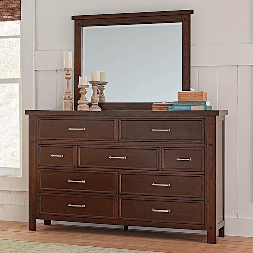 Coaster Barstow Transitional Dresser and Mirror Set