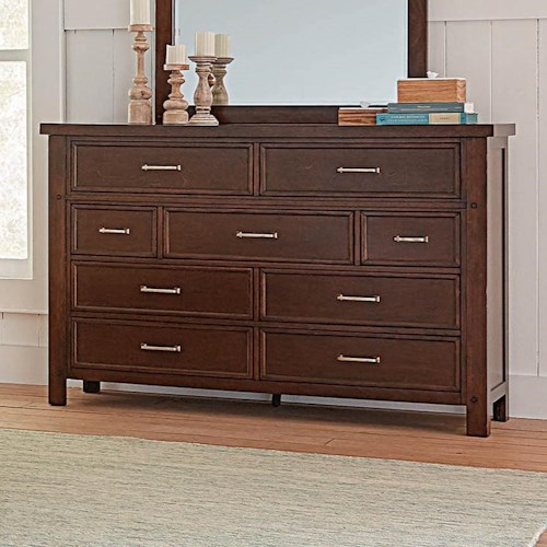 Coaster Barstow Transitional Dresser with Felt-Lined Top Drawers