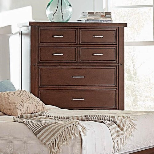Coaster Barstow Transitional Chest of Drawers with Felt-Lined Top Drawers