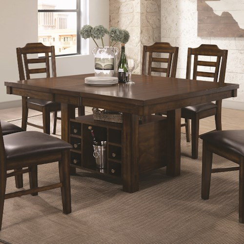 Coaster Bathurst Casual Dining Table with Removable Leaf