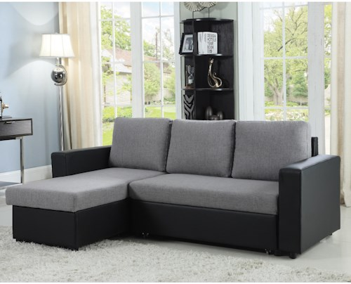 Coaster Baylor Sectional Sofa with Chaise and Sleeper