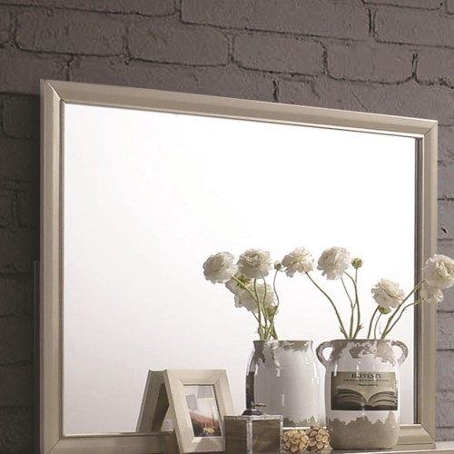 Coaster Beaumont Mirror With Champagne Gold Finished Frame