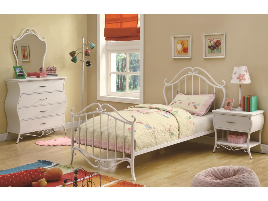Shown with Dresser, Mirror, and Night Stand