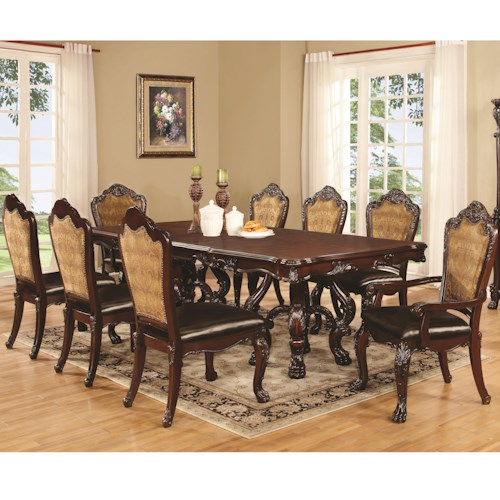 Dining Table and Chair Set with 8 Chairs - Benbrook by Coaster ...