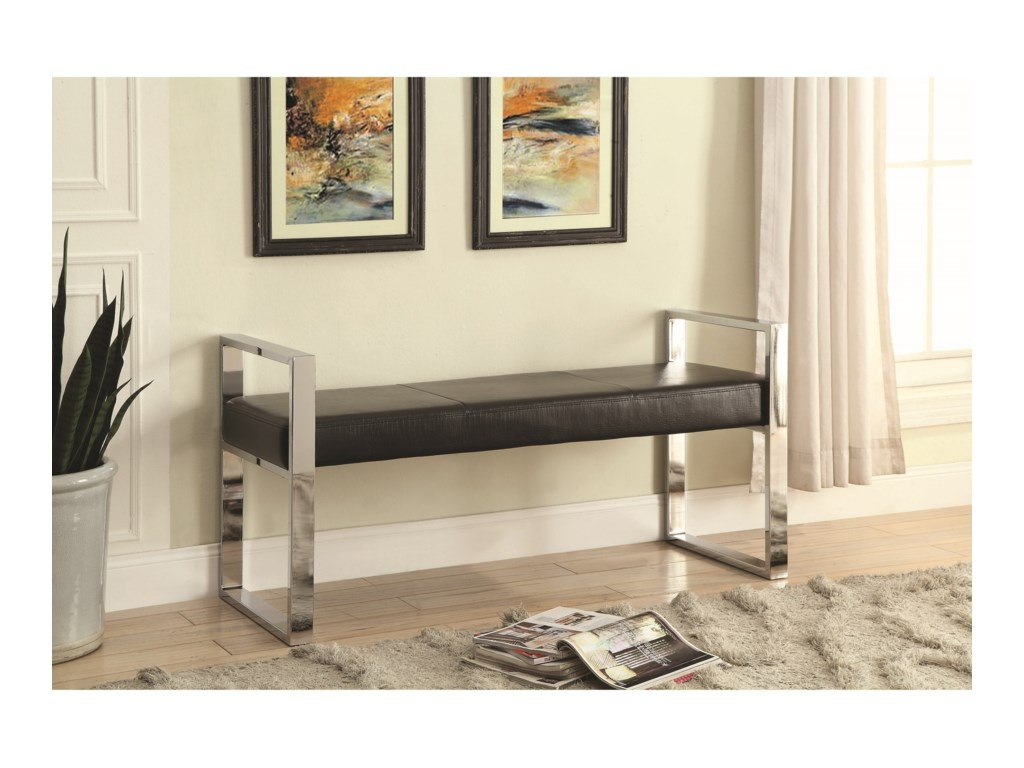 Coaster Benches 500433 Contemporary Upholstered Bench