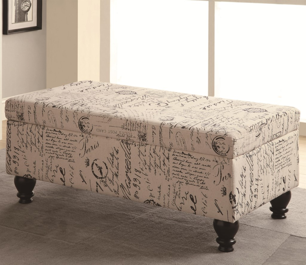 coaster benches 500986 french script storage bench lapeer