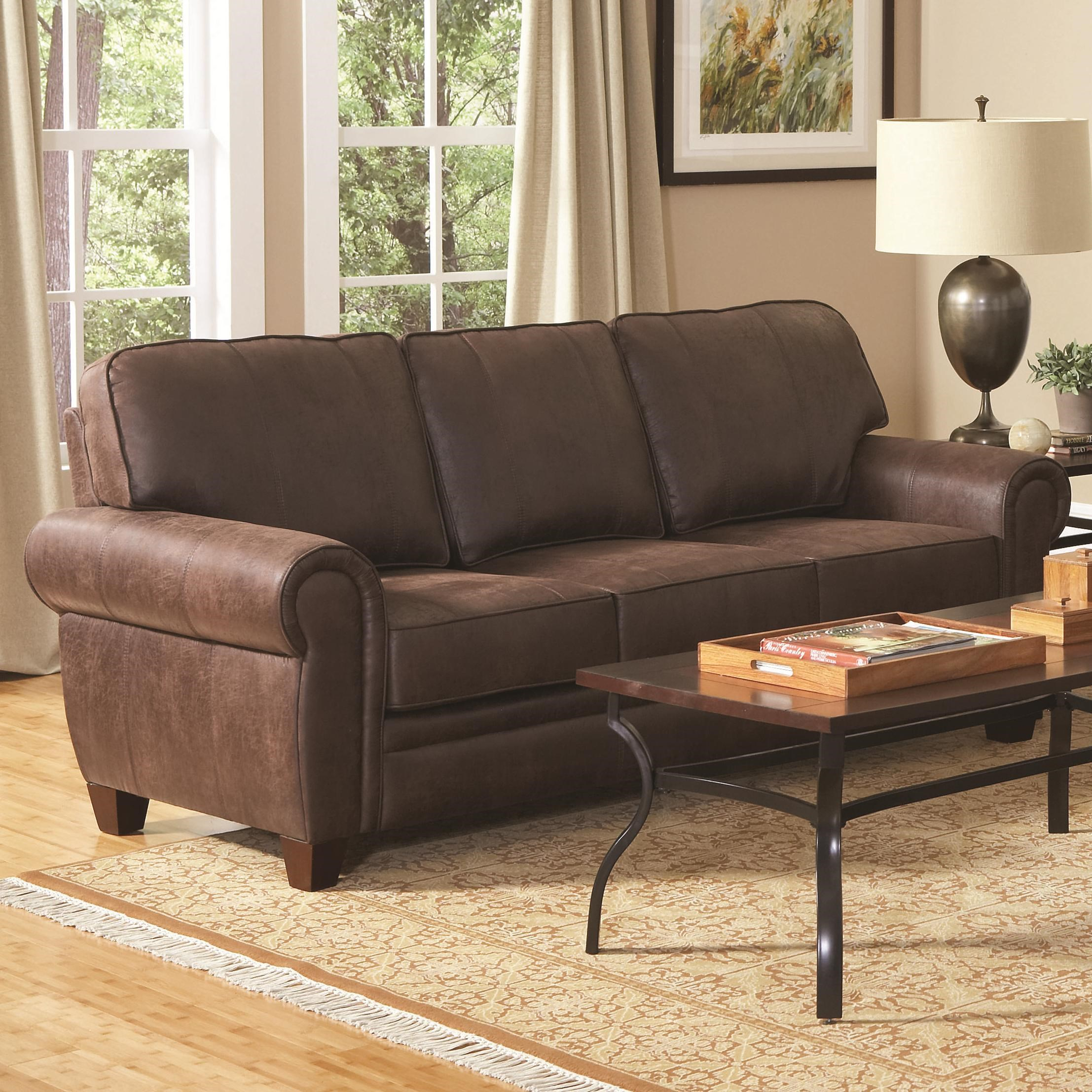 Coaster Bentley 504201 Elegant And Rustic Family Room Sofa | Lapeer  Furniture U0026 Mattress Center | Sofas
