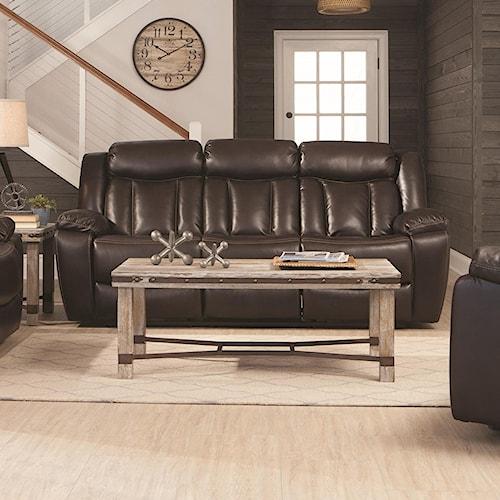 Coaster Bevington Motion Sofa with Channeled Backrest