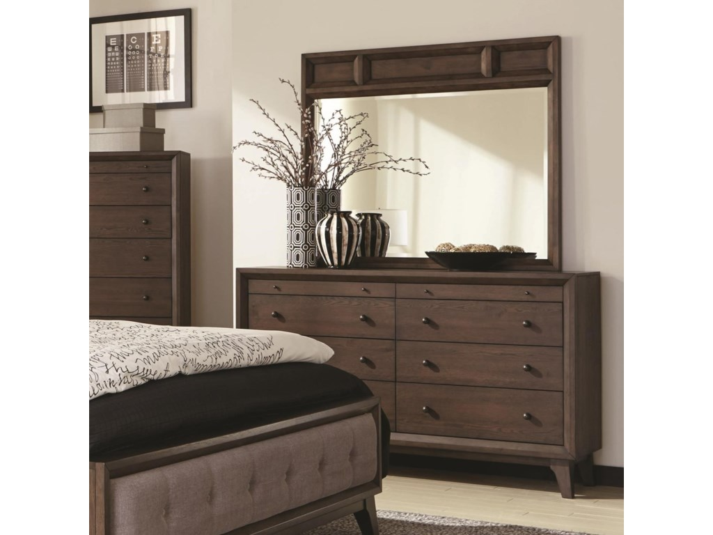 and s dresser drawer mirror amish furniture wolf gardiner daniel double products by with