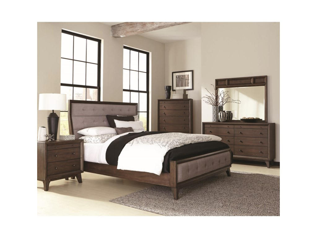 Coaster BinghamQueen Upholstered Bed