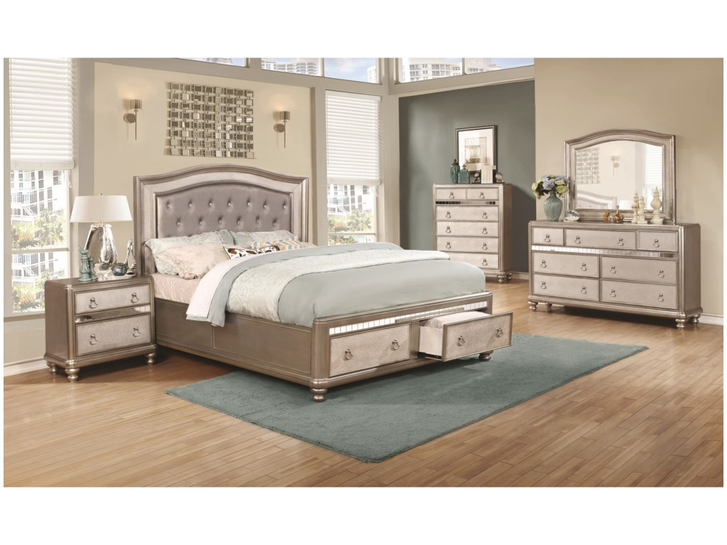 Coaster Bling GameUpholstered Queen Bed