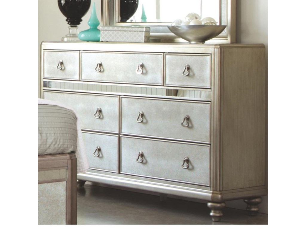 Coaster Bling GameDresser with 7 Drawers