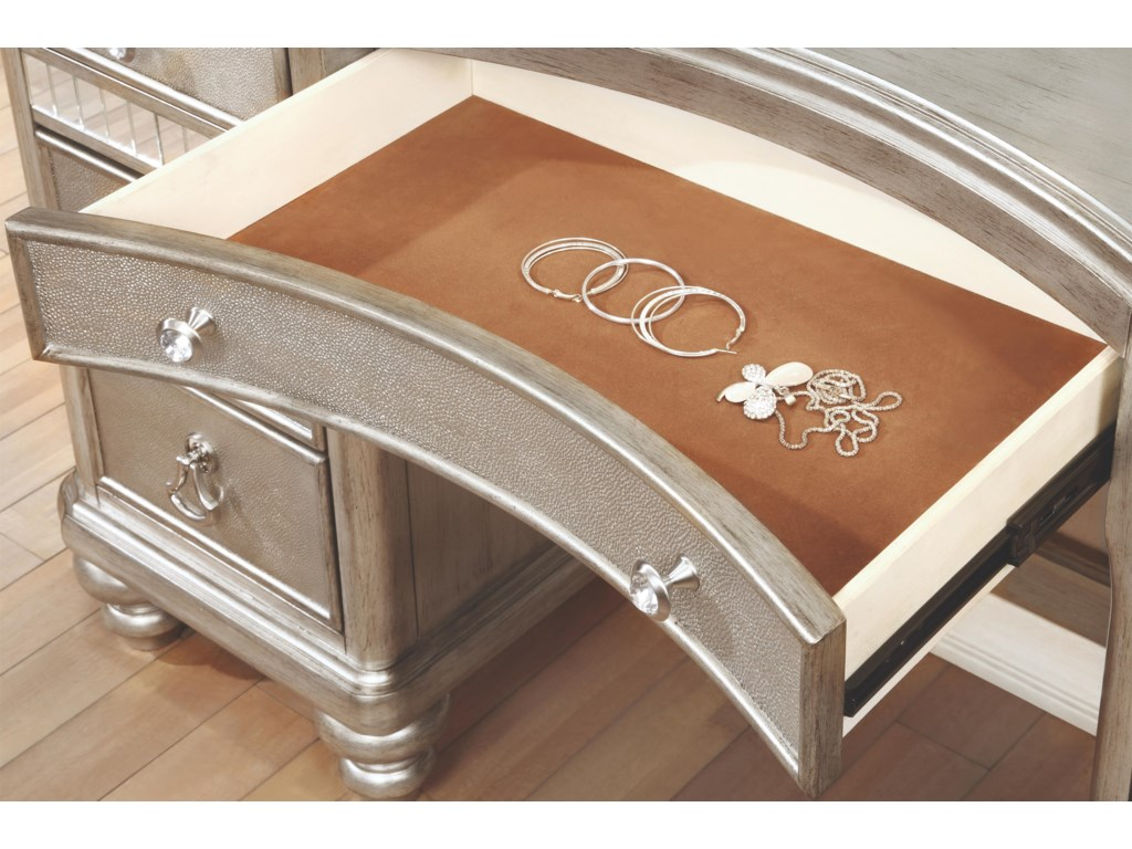 Coaster Bling GameVanity Desk with 7 Drawers